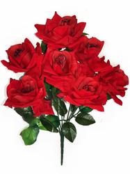 Букет бархатных роз тонированных 7 г. выс. 56 см