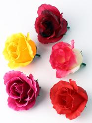 Голова розы шелк 4 сл. диам. 7 см