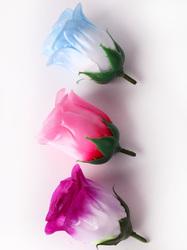 Голова бутона розы атлас 3 сл. диам. 6 см