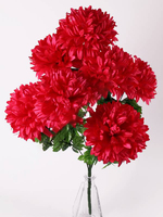 Букет хризантем атласных 7 г. выс. 77 см