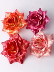 Голова розы парча 5 сл. диам. 15 см