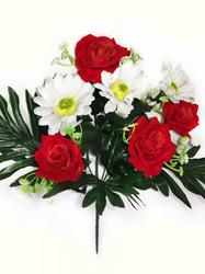 Букет бархатных роз с герберами 7 г. выс. 41 см