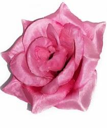 Голова розы шелк 4 сл. диам. 12 см