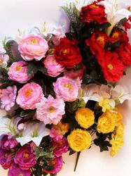 Букет пионов с лилиями и герберами 18 г. выс. 52 см