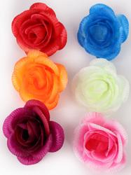 Голова розы шелк 5 сл. диам. 10 см