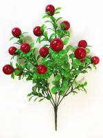 Букет брусники 15 ягод выс. 33 см