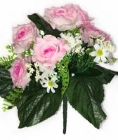 Букет роз с ромашками 10 г. выс. 32 см