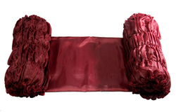 Обивка для гроба шелк 190Т бордовый
