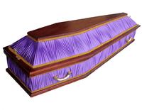 Гроб комбинированный шестигранник сиреневый