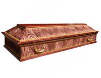 Гроб комбинированный четырехгранник шоколадный
