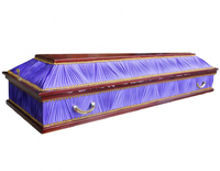 Гроб комбинированный четырехгранник сиреневый