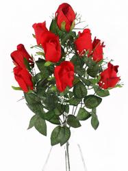 Букет бутонов бархатных роз с пенопластом 9 г. выс. 50 см