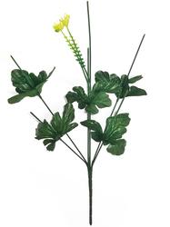 Подбукетник с листьями и добавками 6 гол. выс. 44 см