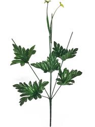 Подбукетник с листьями и добавками 6 гол. выс. 48 см