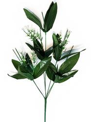 Подбукетник с листьями и добавками 7 гол. выс. 52 см