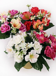 Букет роз с гибискусом 12 г. выс. 32 см