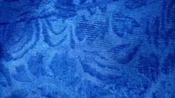 """Велюр с рисунком """"Роза"""" синий"""