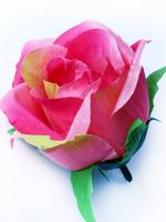 Голова розы флористической хлопок 4 сл. диам. 8 см