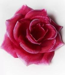Голова розы шелк 4 сл. диам. 10 см