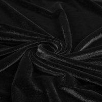 Бархат-стрейч черный