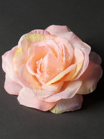 Голова розы флористической с пенопластом шелк диам. 14 см