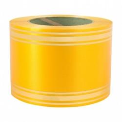 Лента с золотой полосой 8 см