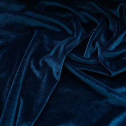 Бархат-стрейч темно-синий