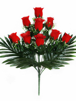 Букет бутонов бархатных роз с добавками 9 г. выс. 45 см