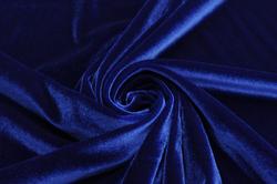 Бархат-стрейч синий