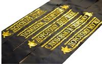 Лента траурная шелк с золотой печатью