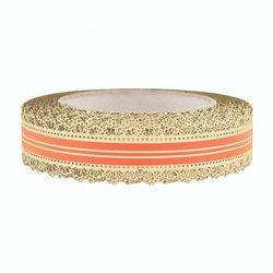 Лента корона с золотой полосой 3 см