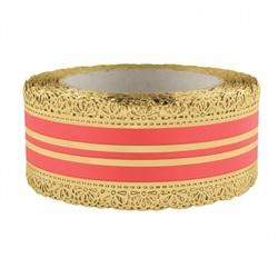 Лента корона с золотой полосой 5 см