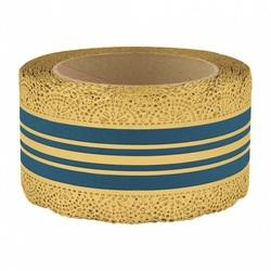 Лента корона с золотой полосой 6 см