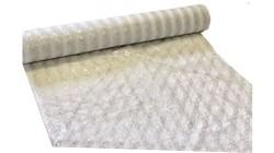 Кружево разрывное ( на 6 см) белое с серебром