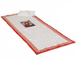 Комплект с иконой Богородица термостежка атлас и кружево