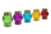 Лампада неугасимая залитая (стекло) mix 5 цветов H11