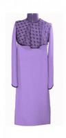 Платье женское габардин и черный гипюр сиреневый