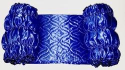 Обивка для гроба атласная верх термостежка синий