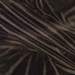 Бархат-стрейч коричневый