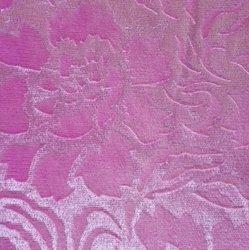 """Велюр с рисунком """"Роза"""" розовый"""